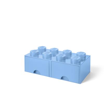 Lego Opbevaringsskuffe Brick 8 - Lys Royal Blå - Baby Spisetid - Lego