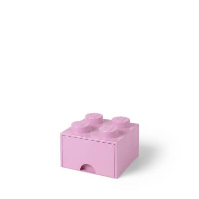 Lego Opbevaringsskuffe Brick 4 - Lys Pink - Baby Spisetid - Lego