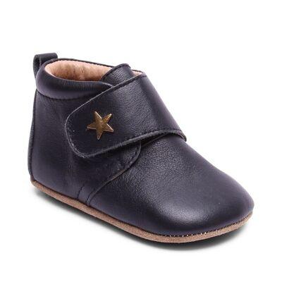 Bisgaard Hjemmesko, Velcro Star - 50 Black - Baby Spisetid - Bisgaard