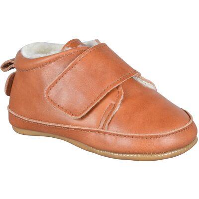 Move Prewalker Hjemmesko, Velcro - 476 Cognac - Baby Spisetid - Move
