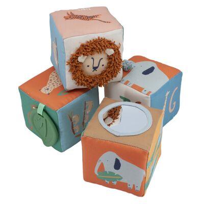 Sebra Babystofklodser 4 Stk, Wildlife - Baby Spisetid - Sebra