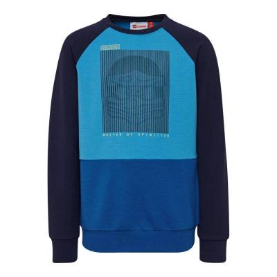 Lego Lwsiam 784 Sweatshirt - 553 Blue - Baby Spisetid - Lego