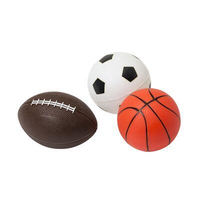 Oxybul 3 Bolde, Basket, Rugby, Fodbold - Baby Spisetid - Oxybul