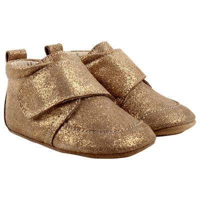 En Fant Velcro Hjemmesko - 192 Beige Glitter - Baby Spisetid - En Fant