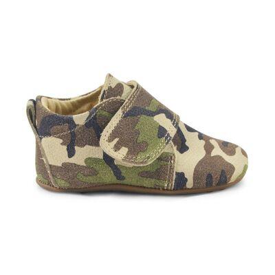 Pompom Velcro Hjemmesko - Camouflage - Baby Spisetid - Pompom