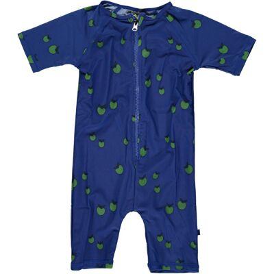 Småfolk UV50 Dragt, Kort Ben - Blå - Baby Spisetid - Småfolk