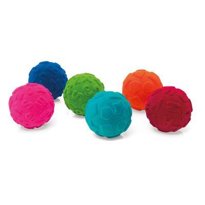 Rubbabu Indlærings Bolde - Flere Farver - Baby Spisetid - Rubbabu