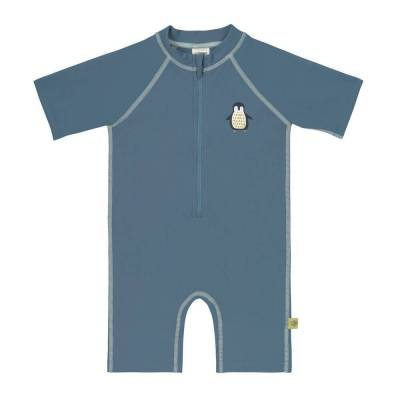Lässig UV Dragt, Pingvin - Petroleum - Baby Spisetid - Lässig