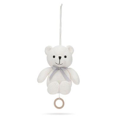 Vanilla Little Teddy Musikuro Bamse - Ivory - Baby Spisetid - Vanilla