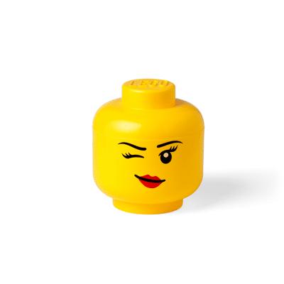 Lego Opbevaringshoved Winky Pige Stor - Baby Spisetid - Lego