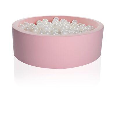 Kidkii Rundt 90x30 Pink Candy incl. 200 Bolde - Baby Spisetid - Kidkii
