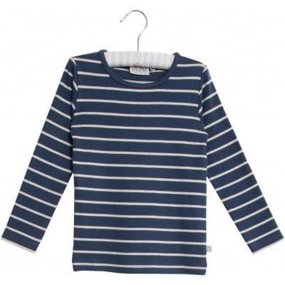 Wheat Langærmet Stribet T-Shirt - 1324 Indigo - Børnetøj - Wheat