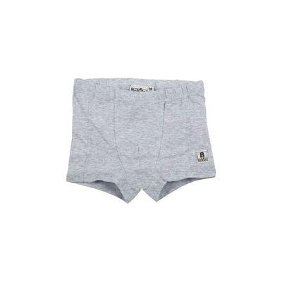 BeKids Boxershorts - Ensfarvede - grå - Børnetøj - BeKids