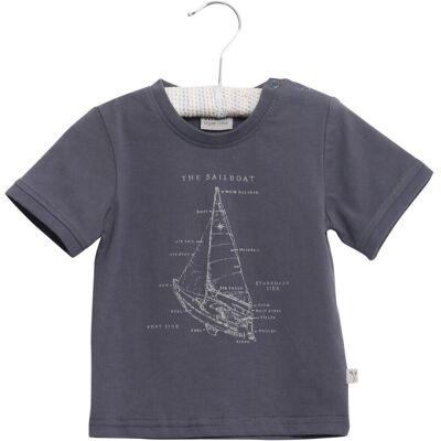 Wheat Sailboat Kortærmet T-Shirt - 1292 - Børnetøj - Wheat