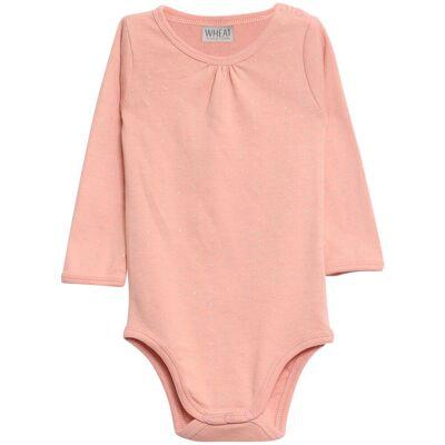 Wheat Gatherings Langærmet Body - Coral Pink/2065 - Børnetøj - Wheat