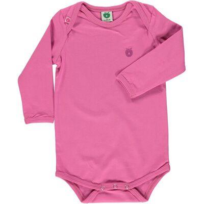 Småfolk Body Ensfarvet - Pink/044 - Børnetøj - Småfolk