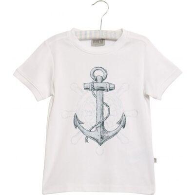 Wheat Anchor T-Shirt - White - Børnetøj - Wheat
