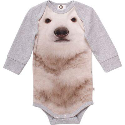 Müsli Spicy Bear Body - Pale Grey. - Børnetøj - Müsli