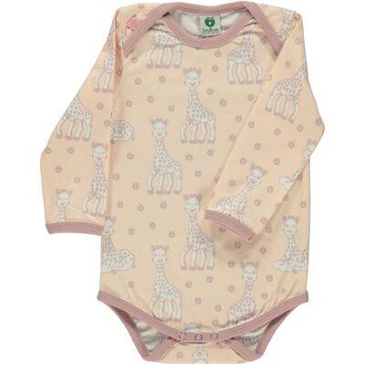 Småfolk X Sophie la Girafe Body - Pale Blush - Børnetøj - Småfolk X Sophie la Girafe