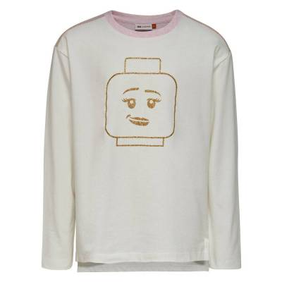 Lego Tanya 706 - Langærmet T-Shirt - Råhvid - Børnetøj - Lego