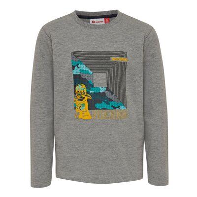 Lego Lwtiger 787 T-Shirt - 921 Grey Melange - Børnetøj - Lego