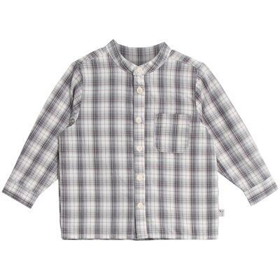 Wheat Langærmet Skjorte Med Lomme - 1292 Greyblue - Børnetøj - Wheat
