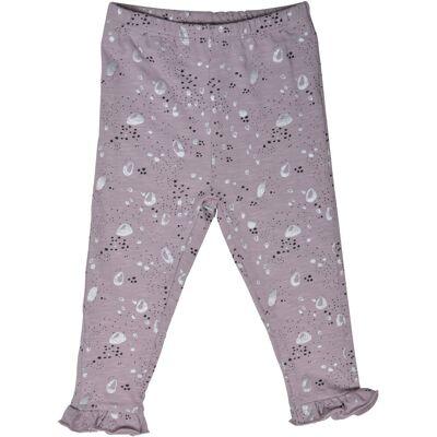 Papfar Ankellang Leggings - 703 Cloud Lilac - Børnetøj - Papfar