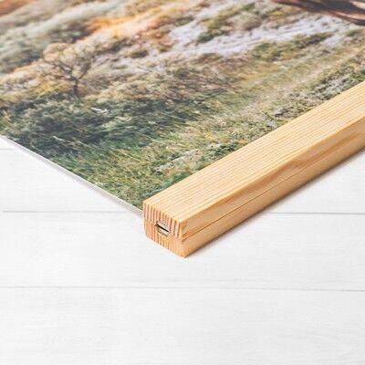 smartphoto Plakat med Plakatophæng 40 x 105 cm Træ