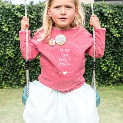smartphoto Trøje til børn Blåmeleret 5 - 6 år - Børnetøj - smartphoto
