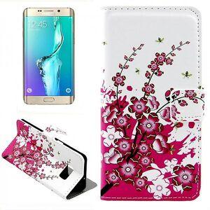 Wigento Tegnebog Deluxe taske mønster 6 for Samsung Galaxy S6 kant plus G928 F