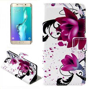 Wigento Tegnebog Deluxe taske mønster 3 for Samsung Galaxy S6 kant plus G928 F