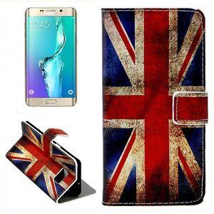Wigento Tegnebog Deluxe taske mønster 9 for Samsung Galaxy S6 kant plus G928 F