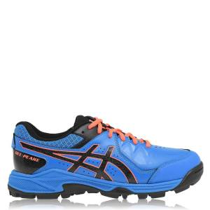 Asics Herre Gel Peake Hockey Sko Trænere Sports Training Lace Up Dire Blå/Sort UK 8