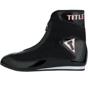 Title Boxing Titel boksning hidse letvægts Mid-length boksning sko - sort/sort 12