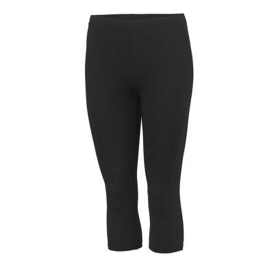 AWDis bare Cool børnetøj/piger Cool Capri sport bukser Jet Black 5-6 - Børnetøj - Awdis