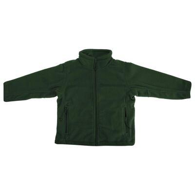 Jerzees Schoolgear børnetøj Full Zip udendørs Fleece jakke Sort 9-10 - Børnetøj - Jerzees