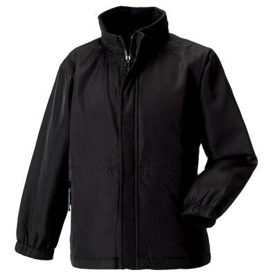 Jerzees Schoolgear børnetøj Vendbar meshpanel jakke Bourgogne 7-8 - Børnetøj - Jerzees