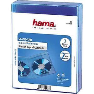 Hama 2 x Blu-ray sag 2 cd'er/dvd'er/Blu-rays polypropylen blå 3 computer(e) (W x H x D) 135 x 170 x 10 mm 00051468
