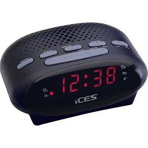 ICES ICR-210 Radio vækkeur FM Sort