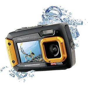 Easypix W-1400 digital kamera 14 MP sort/orange støvtæt, undervandskamera, front skærm