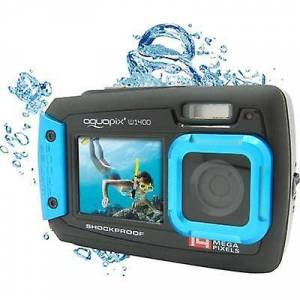 Easypix W-1400 Digitalkamera 14 MP Sort, Blå Støvtæt, Undervandskamera, Frontdisplay