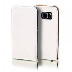 Wigento Flip lomme Deluxe hvid for Samsung Galaxy S5 neo SM G903F ærme tilfælde pose