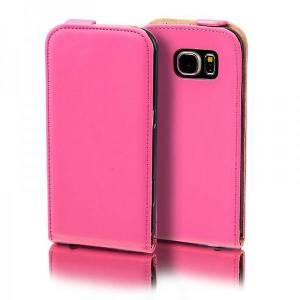 Wigento Flip lomme Deluxe Pink for Samsung Galaxy S5 neo SM G903F ærme tilfælde pose