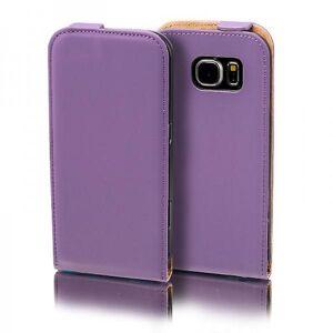 Wigento Flip lomme Deluxe lilla for Samsung Galaxy S5 neo SM G903F ærme tilfælde pose