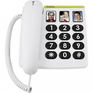 Doro PhoneEasy 331 pH ledning stor knap kameraknap ingen display hvid