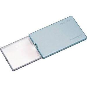 Eschenbach 152122 håndholdt Forstørrelsesglas incl. LED belysning forstørrelse: 4 x linse størrelse: (L x W) 86 mm x 54 mm blå