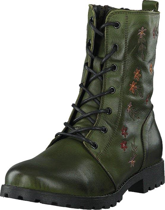 Emma 495-1030 Warm Lining Green, Sko, Boots, Kraftige støvler, Grøn, Dame, 41
