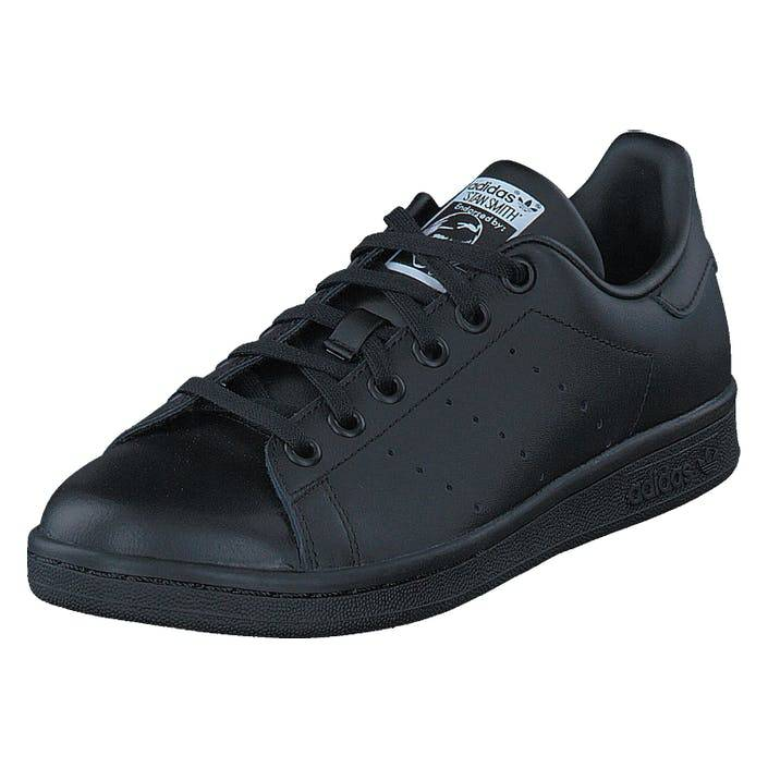 adidas Originals Stan Smith J Black/Black/Ftwr White, Børn, Sko, Sneakers, Sort, UK 5