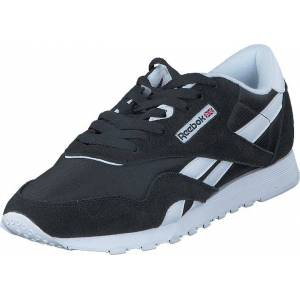 Reebok Classic CL Nylon Black/White, Sko, Sneakers og Træningssko, Sneakers, Sort, Dame, 37