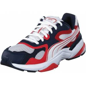 Puma Axis Supr Puma White-peacoat- Red, Sko, Sneakers og Træningssko, Sneakers, Blå, Rød, Unisex, 41
